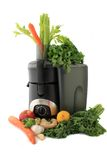 Juicing fresh vegetables and fruit Stock Photography