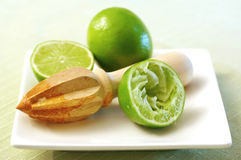 Juicing Limes Stock Photography
