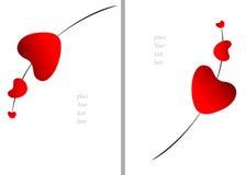 Juicy γλυκιά ρομαντική κάρτα σειράς καρδιών βαλεντίνων με το κενό διάστημα για το κείμενο Διανυσματική απεικόνιση που απομονώνετα Στοκ Φωτογραφίες