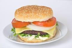 juicy κρέας χάμπουργκερ Στοκ Εικόνες