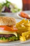 juicy κρέας χάμπουργκερ Στοκ εικόνες με δικαίωμα ελεύθερης χρήσης