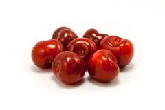 juicy κόκκινο ρουμπίνι χουφτών κερασιών Στοκ φωτογραφίες με δικαίωμα ελεύθερης χρήσης