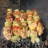juicy λαχανικά οβελιδίων κο&tau Στοκ φωτογραφία με δικαίωμα ελεύθερης χρήσης