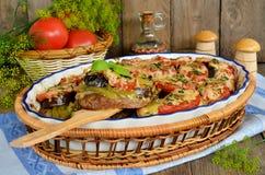 Juicy μενταγιόν βόειου κρέατος που τηγανίζεται με τα λαχανικά Στοκ φωτογραφία με δικαίωμα ελεύθερης χρήσης