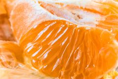 Juicy πολτός των πορτοκαλιών φρούτων Στοκ Εικόνες