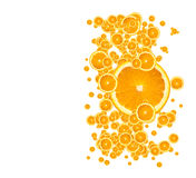 juicy πορτοκάλι ανασκόπησης ελεύθερη απεικόνιση δικαιώματος