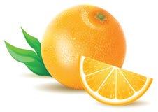 juicy πορτοκάλι Στοκ Εικόνα