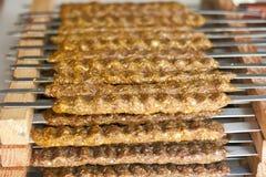 juicy σειρές kebab βόειου κρέατος Στοκ φωτογραφία με δικαίωμα ελεύθερης χρήσης