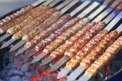 juicy σειρές kebab βόειου κρέατος Στοκ Εικόνα