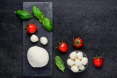 Juicy σφαίρες τυριών μοτσαρελών Στοκ Εικόνα