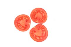 juicy τεμαχισμένη ντομάτα Στοκ φωτογραφία με δικαίωμα ελεύθερης χρήσης