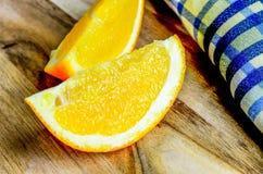 Juicy φρέσκες fruity πορτοκαλιές φέτες Στοκ Εικόνες