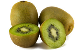 Juicy φρούτα ακτινίδιων που απομονώνονται στο άσπρο υπόβαθρο Στοκ φωτογραφίες με δικαίωμα ελεύθερης χρήσης