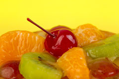 Juicy φρούτα, tangerines, ακτινίδιο, κεράσια Στοκ Εικόνα