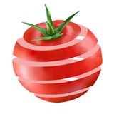 Juicy ώριμη κόκκινη ντομάτα Στοκ Εικόνες