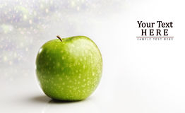 Juicy apple font view and background. With room for your text Stock Images