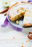 Juicy apple pie with cinnamon Stock Photography