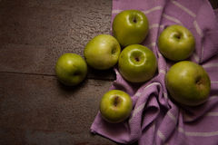 Juicy apples on dark background Stock Image