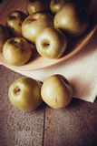 Juicy apples on dark background Royalty Free Stock Images