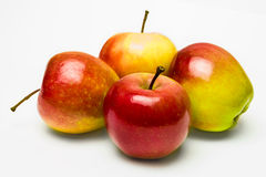 Juicy apples. Juicy red apples on a white background Royalty Free Stock Photos