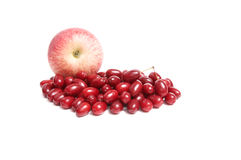 Juicy autumn fruits on a white. Stock Image