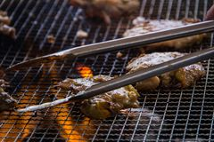 A juicy barbecued cuisine. A food photo of barbecued or grilled cuisine stock image