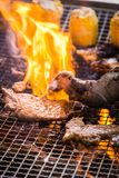 A juicy barbecued cuisine. A food photo of barbecued or grilled cuisine stock photos
