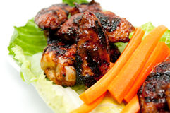 Juicy bbq chicken wings Stock Images