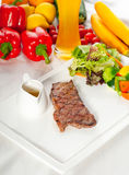 Juicy BBQ grilled rib eye Royalty Free Stock Photos