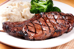 Juicy bbq rib steak royalty free stock photography