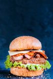 Juicy beef burger Royalty Free Stock Photo