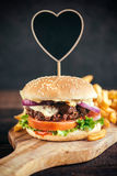 Juicy beef burger Stock Images