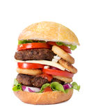 Juicy beef burger isolated Stock Photography