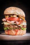 Juicy beef burger time Stock Photos