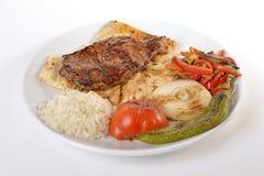 Juicy Beef Rib Eye Steak Stock Images