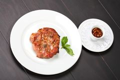 Juicy beef steak Royalty Free Stock Images