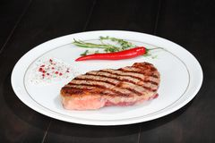 Juicy beef steak Royalty Free Stock Photography