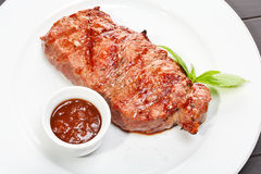 Juicy beef steak Royalty Free Stock Photo