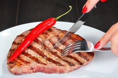 Juicy beef steak Royalty Free Stock Photos