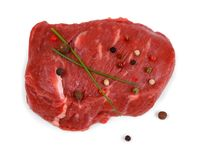 Juicy beef steak with peppercorns and spring onion Stock Images