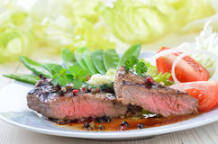 Juicy beefsteak Royalty Free Stock Photo