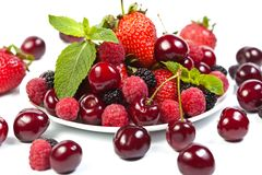 Juicy berries on white Stock Image