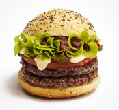 Juicy burger Royalty Free Stock Photos
