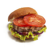 Juicy burger Stock Photography