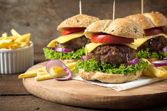 Juicy burgers Stock Image