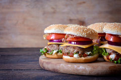 Juicy burgers Royalty Free Stock Photo