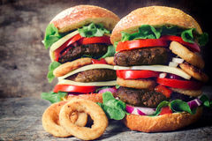 Juicy burgers Royalty Free Stock Images
