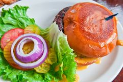 Juicy Cheeseburger Royalty Free Stock Images