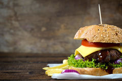 Juicy cheeseburger Royalty Free Stock Image