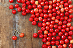 Juicy cherries. Sweet and juicy cherries on the table stock photo